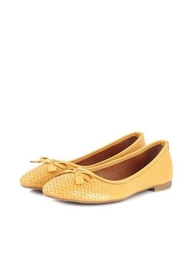 Ballerins Hakiki Deri El Yapımı Sarı Babet Blrs-1010 Sarı